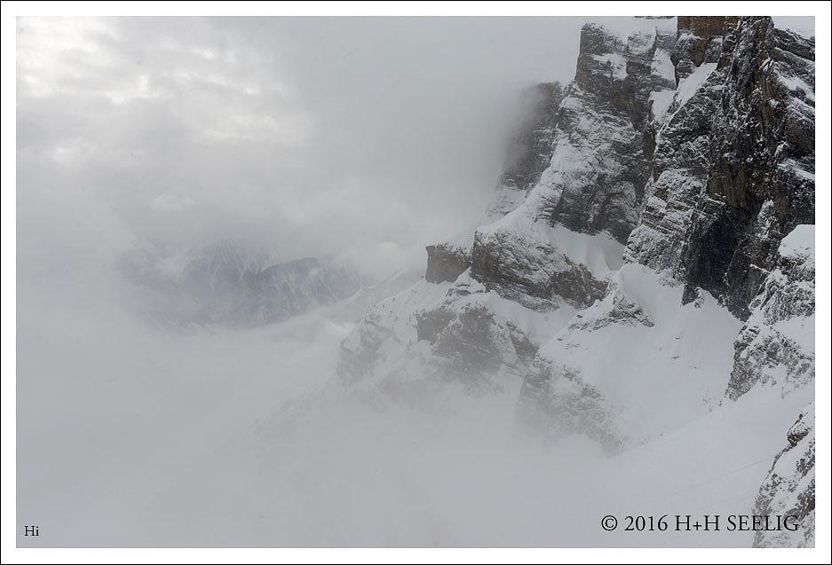 Wetterwechsel im Den Bergen
