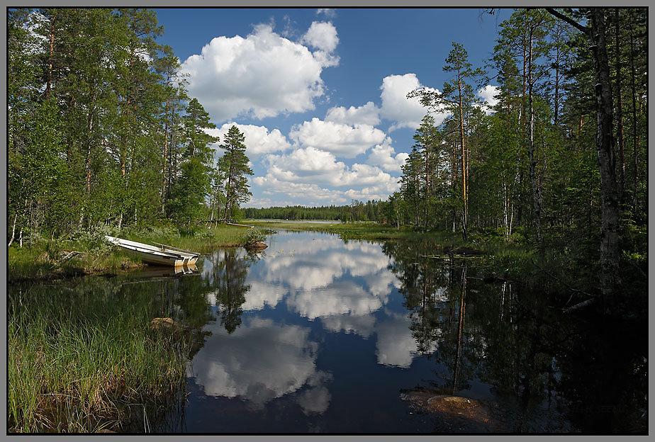 Am einem See in Schweden