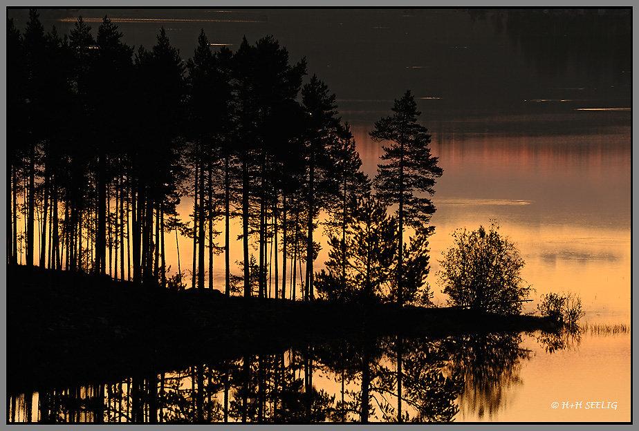 Sonnenaufgang am Storhamrasjön