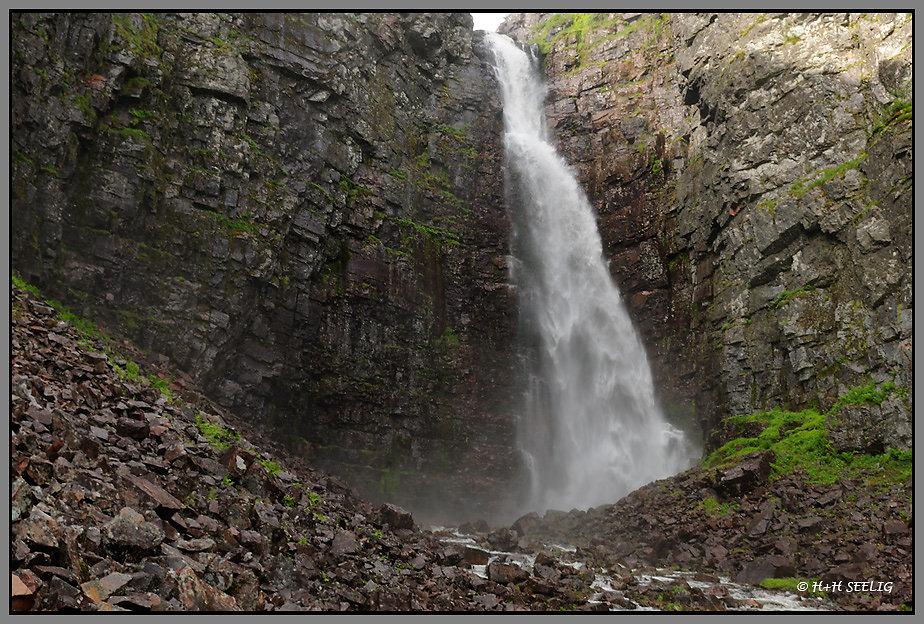 Njupeskär höchster Wasserfall Schwedens 98m
